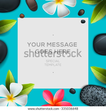 Health and beauty template, concept for spa salon , vector illustration. - stock vector