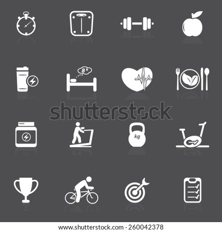 Health and Fitness Icons- Illustration - stock vector