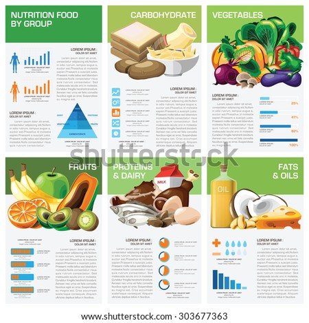 Health Nutrition Food By Group Infographic Stock Vector Hd Royalty