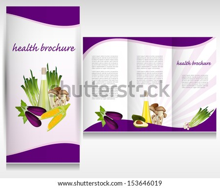 Health Brochure Template Stock Vector Shutterstock - Health brochure templates
