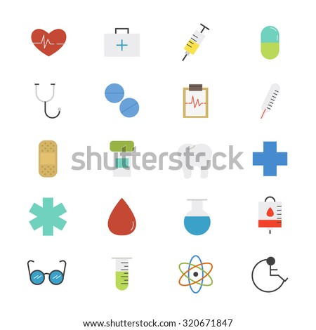 Health care and Medical Flat Icons color