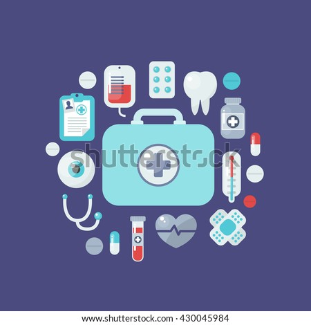 health care and medical icons. vector illustration