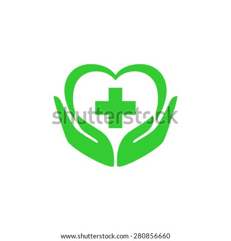 Health care cardio prevention logo - stock vector