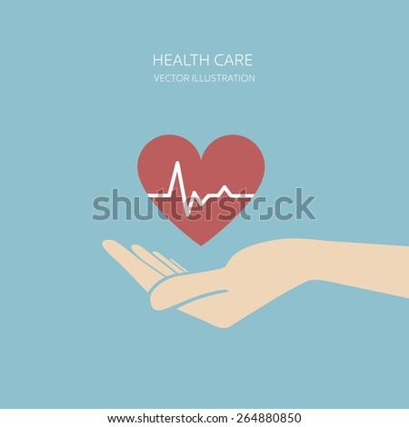 Health care concept. Vector illustration. - stock vector