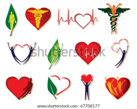 health care icon collection vector