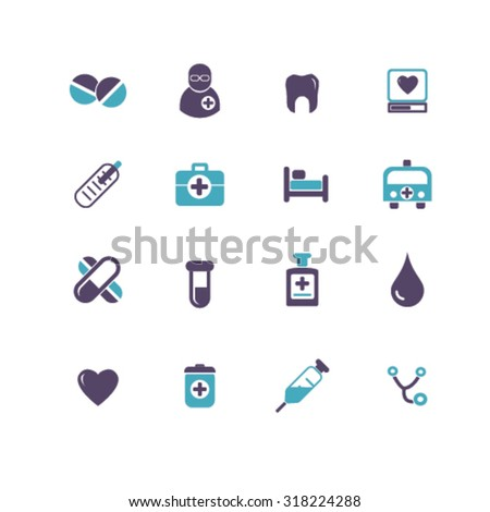 health care icons - stock vector