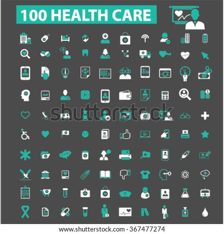 health care, icons, health care and safety, health insurance, medicine  icons, signs vector concept set for infographics, mobile, website, application  - stock vector
