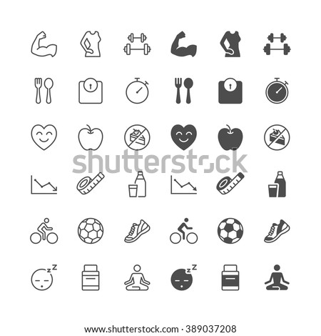 Health care icons, included normal and enable state. - stock vector