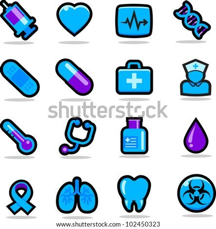 Health care icons set