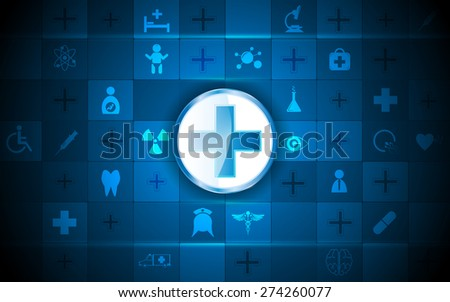 health care logo and medical icon rectangle pattern background