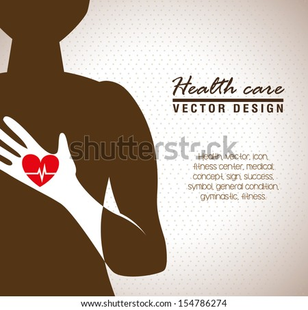 health care  over beige background vector illustration  - stock vector