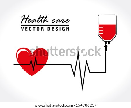 health care over white background vector illustration