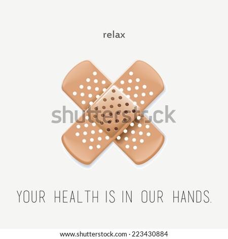 health care panel. crossed plaster. vector illustration - stock vector