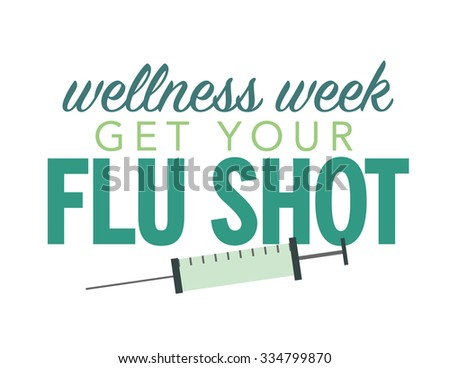 Health care poster with syringe and wellness week - stock vector