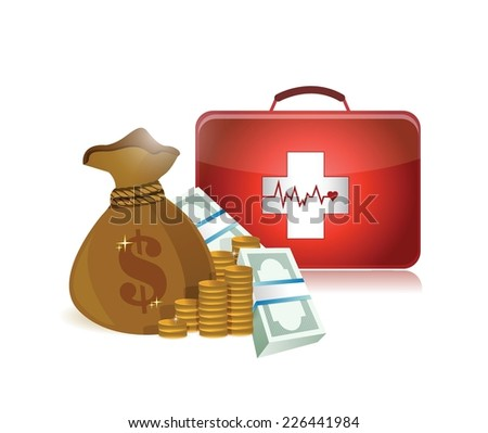 health care prices illustration design over a white background - stock vector