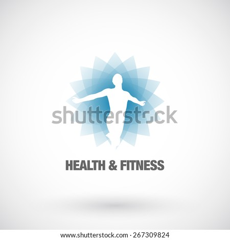 Health & Fitness  design element template. Business concept. Human abstract. Vector icon. - stock vector
