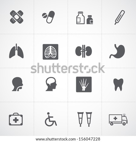 Health icons and Medical Icons - stock vector