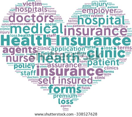 Health Insurance Concept Word Cloud
