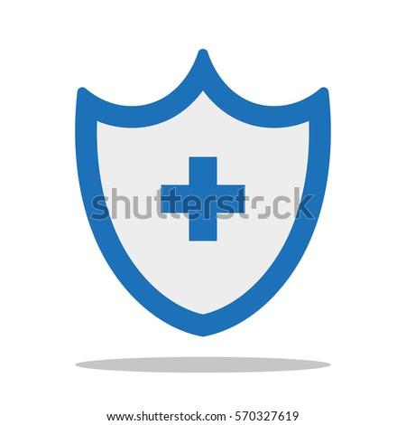 Health Insurance Icon Flat Design Stock Vector Hd Royalty Free