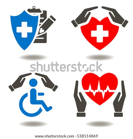 health insurance medicine safety invalid hands stock vector hd rh shutterstock com vector medical services vector medical group