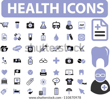 health & medical icons set, vector - stock vector