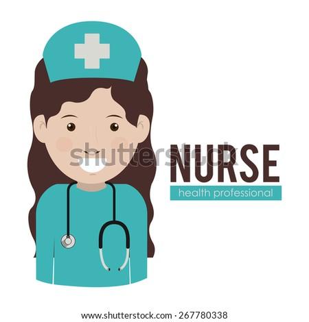 Health professional design over white background, vector illustration - stock vector