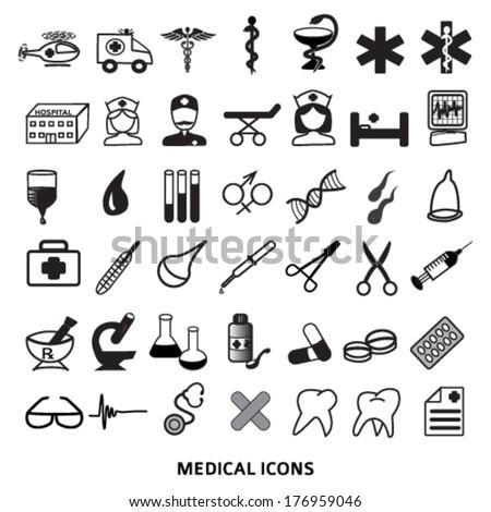 Health Symbols Set Medical Healthcare Icons Stock Photo Photo