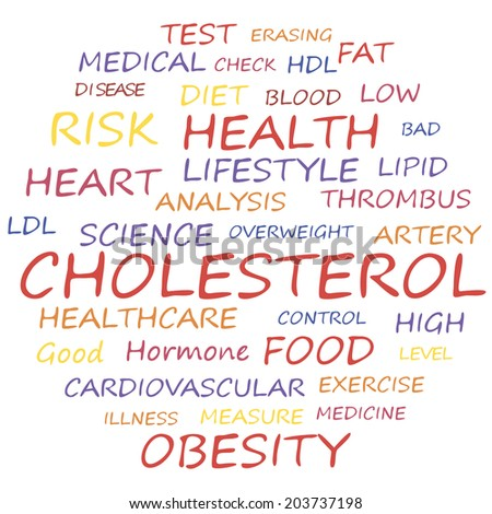 Health word cloud concept, a vector illustration. - stock vector