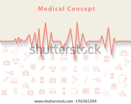 Healthcare and Medical Concept background. - stock vector