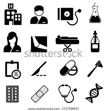 Healthcare and medical related icon set