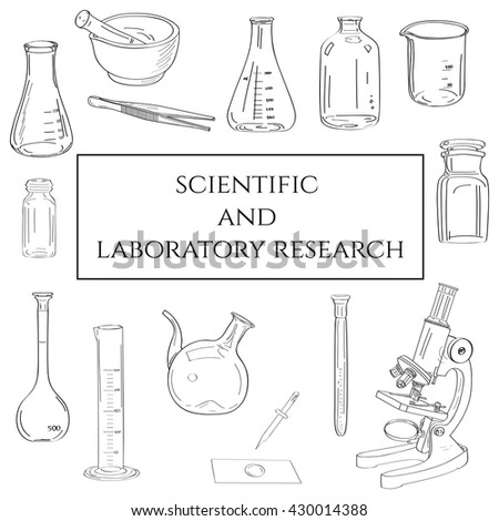 Healthcare and medical research set. Concept poster vector illustration