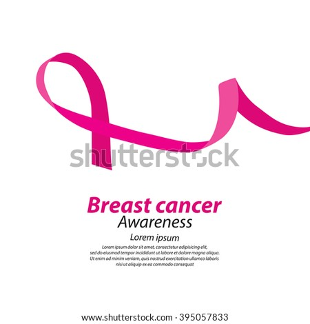 healthcare and medicine concept. pink breast cancer awareness ribbon vector illustration.