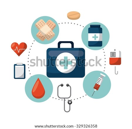 healthcare concept design, vector illustration eps10 graphic