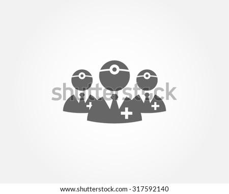 Healthcare doctor vector icon - stock vector