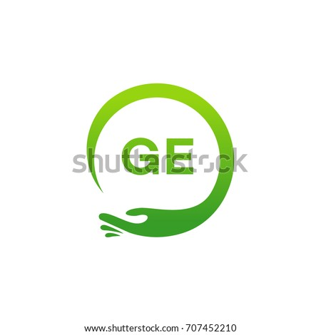 Healthcare Ge Initial Logo Designs Template Stock Vector 707452210