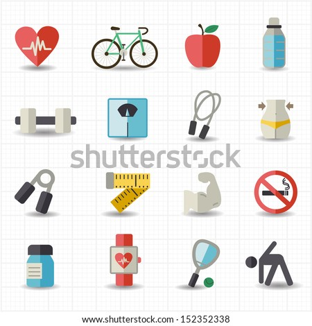 Healthcare icons - stock vector