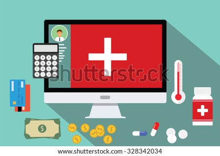healthcare medical expense money health expenditure  - stock vector