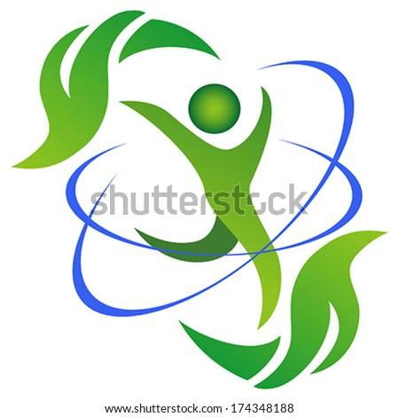 Healthy and natural life symbol - stock vector