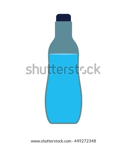 Healthy and organic food concept represented by Water bootle icon. isolated and flat illustration