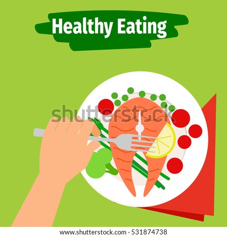 Diet weight loss marathon mobile food stock vector for Healthiest fish to eat for weight loss
