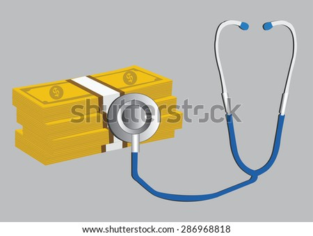 healthy finance, financial concept. vector illustration - stock vector
