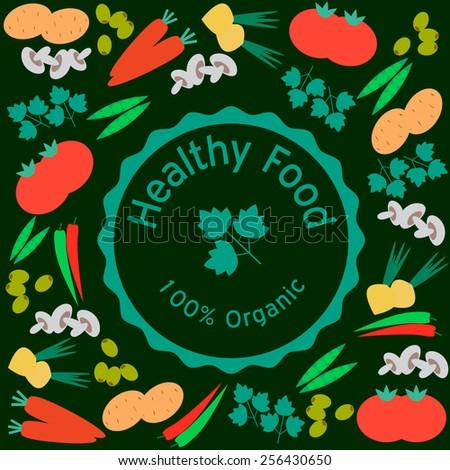 Healthy Food  - stock vector