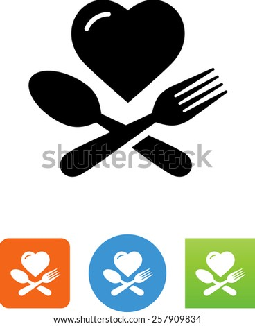 Healthy food choice symbol for download. Vector icons for video, mobile apps, Web sites and print projects. - stock vector