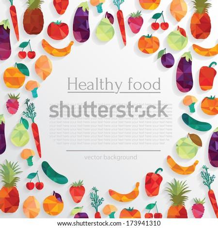 Healthy food concept - stock vector
