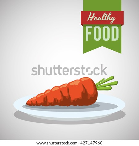 Healthy food design. organic food. flat illustration