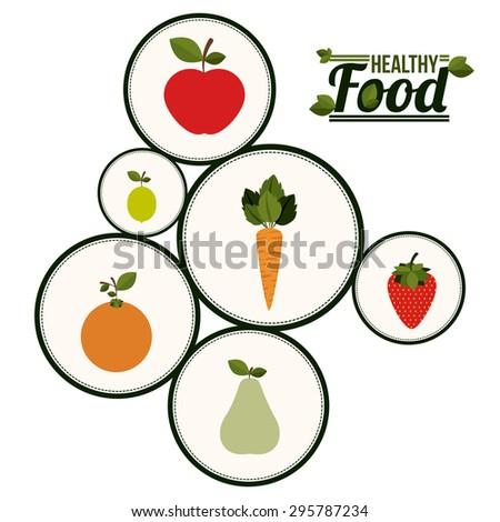 Healthy food digital design, vector illustration eps 10 - stock vector
