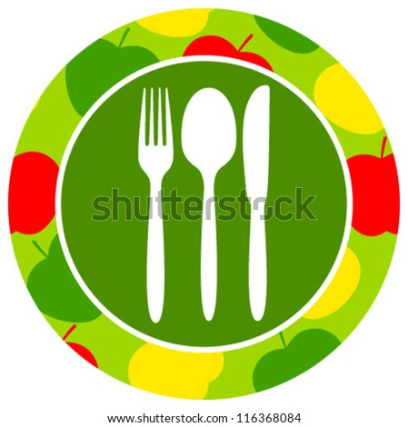 healthy food icon apple - stock vector