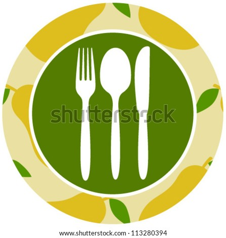 healthy food icon peer - stock vector