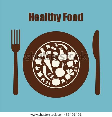 healthy food icon. vector illustration - stock vector