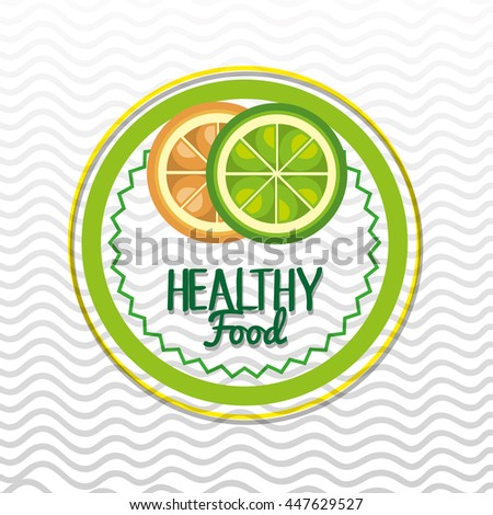 healthy food seal  isolated icon design, vector illustration  graphic